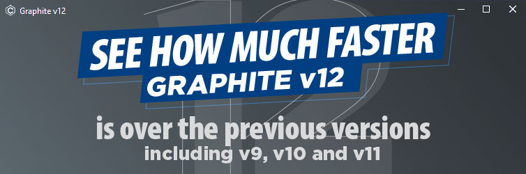 How much faster Graphite v12 is over the previous versions, including v9, v10 and v11